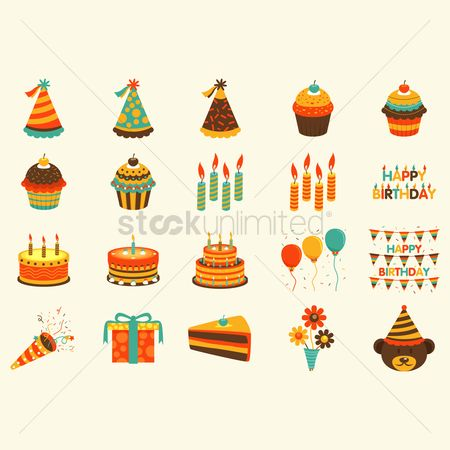 Party : Birthday icons