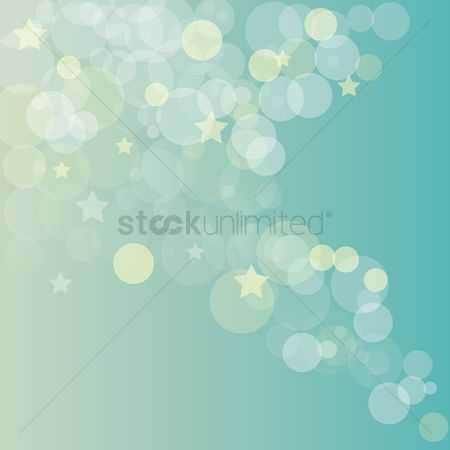 Star : Bubble background with stars