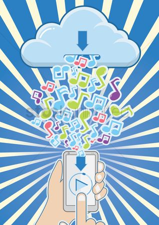 Music : Cloud computing concept