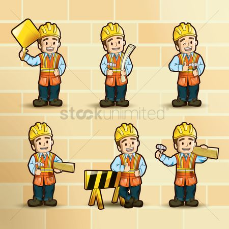 Cute : Collection if construction worker