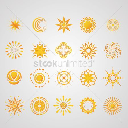 Sun : Collection of abstract icons