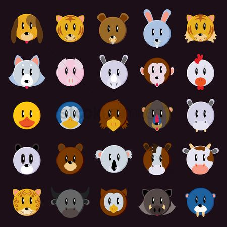 Icon : Collection of animals