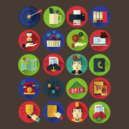 Shopping : Collection of business and ecommerce icon