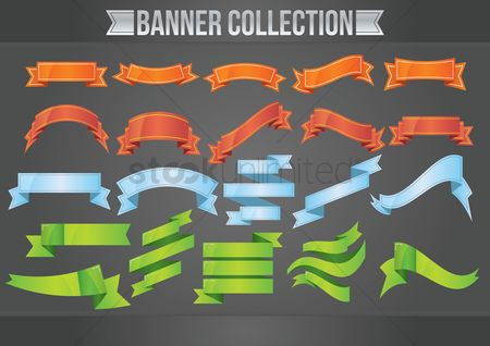 Ribbon : Collection of empty banners