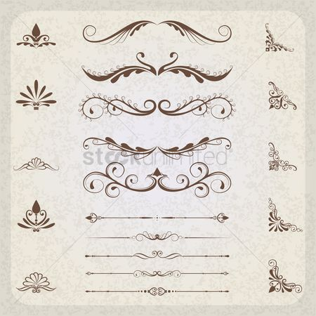 Vintage : Collection of ornamental designs