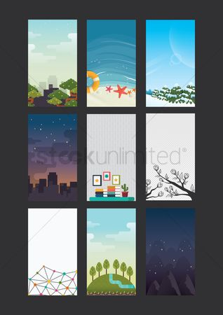 Banners : Collection of wallpapers for mobile phone