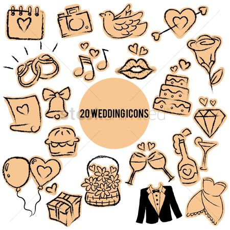 Wedding : Collection of wedding icons