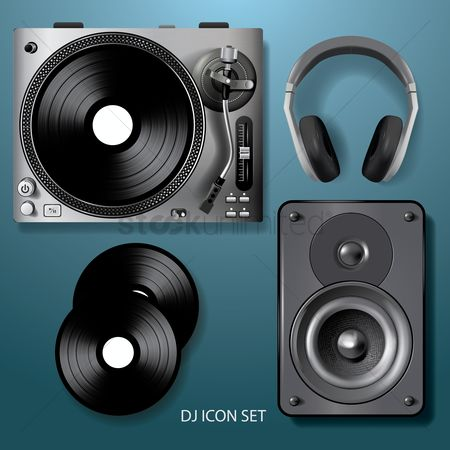 Music : Dj icon set