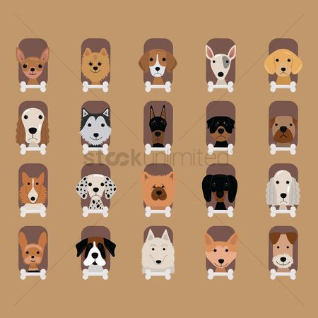 Banners : Dog breeds icons