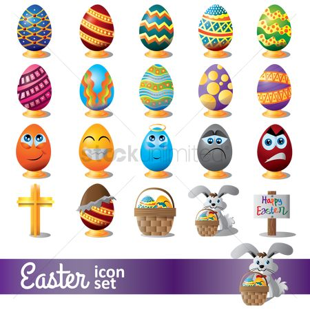 Celebration : Easter eggs set