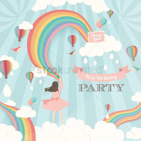 Banners : First birthday party