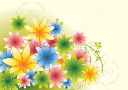 Floral : Floral abstract background