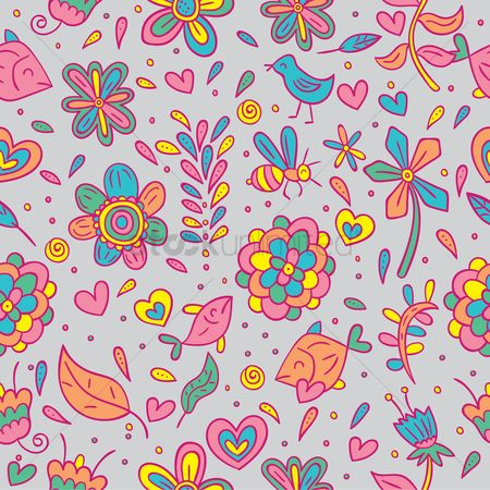 Cute : Floral background