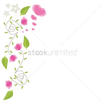 Romantic : Floral border design