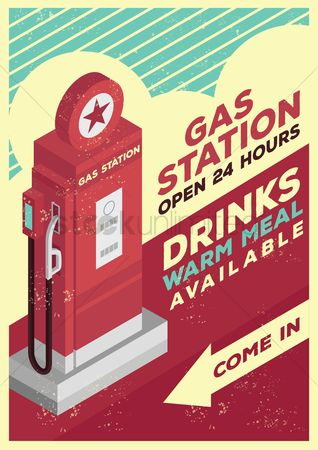 Star : Gas station poster