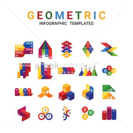Infographic : Geometric infographic templates