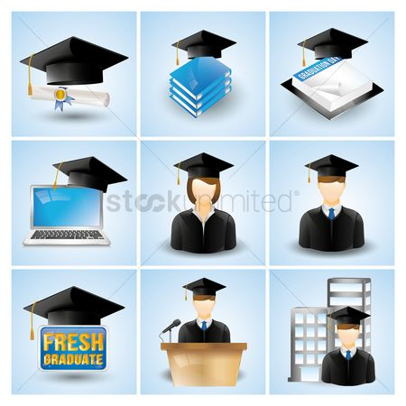 Ribbon : Graduation icons