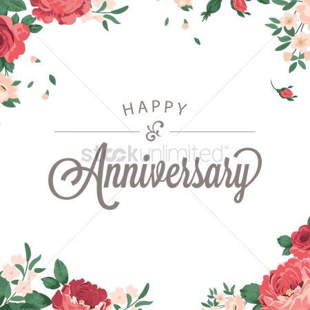 Floral : Happy anniversary