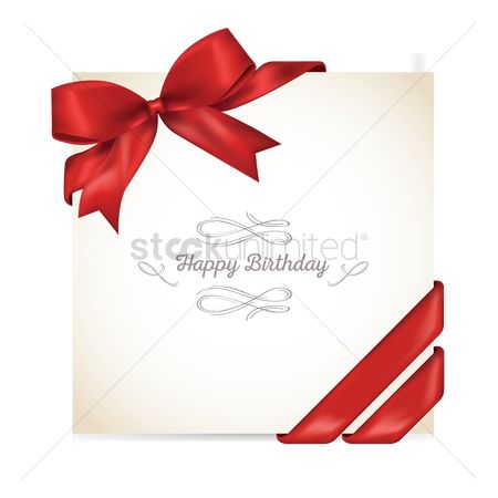 Ribbon : Happy birthday card