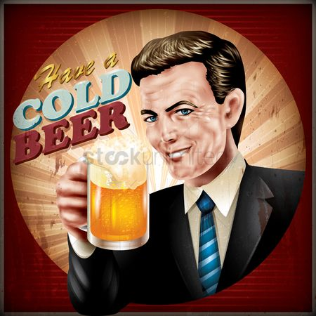 Vintage : Have a cold beer wallpaper