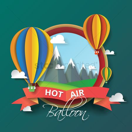 Ribbon : Hot air balloon card