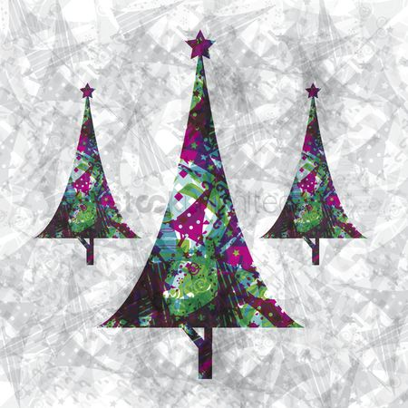 Celebration : Illustration of christmas trees