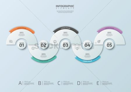 Ribbon : Infographic design elements