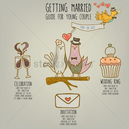 Celebration : Infographic of getting married