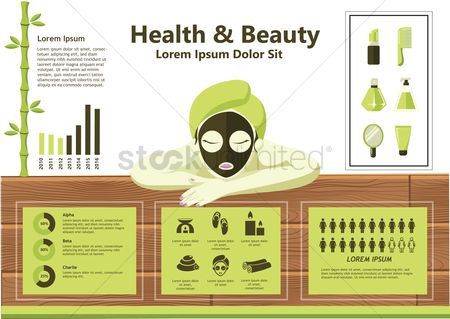 Spa : Infographic of health and beauty