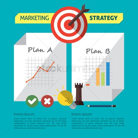 Banners : Infographic of marketing strategy