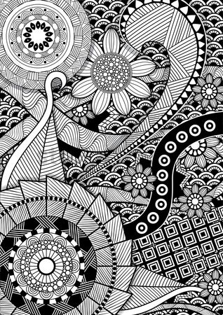Background : Intricate pattern design