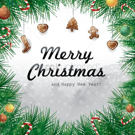 Heart : Merry christmas and happy new year