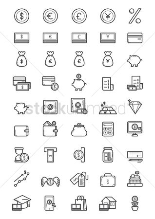 Shopping : Money icons