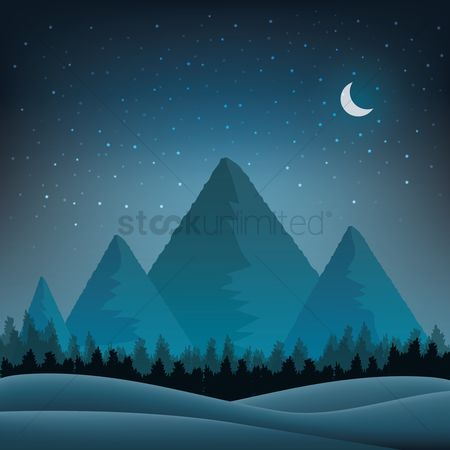 Star : Mountain landscape