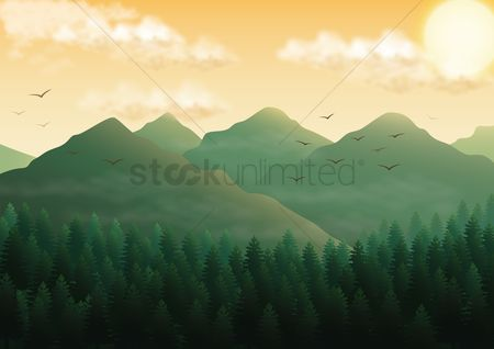 Background : Mountain landscape