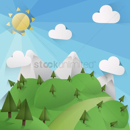 Sun : Nature background