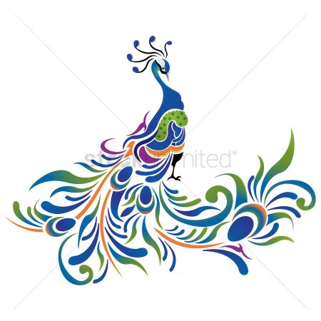 Birds : Peacock pattern icon
