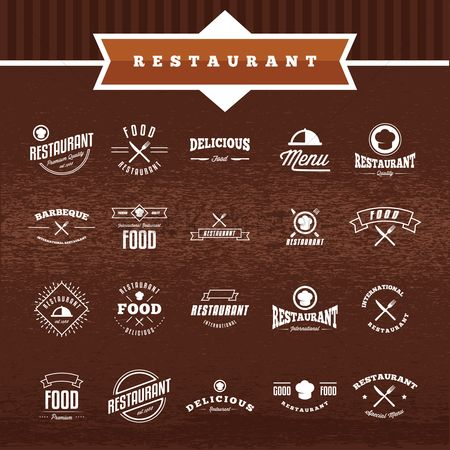 Banners : Restaurant labels collection