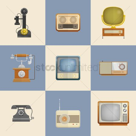 Vintage : Retro technology devices