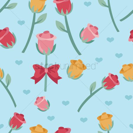 Romantic : Seamless valentine s day background