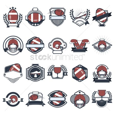 Vectors : Set of american football icons