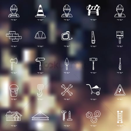 Icons : Set of construction icons