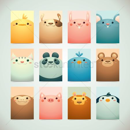 Animal : Set of cute animals