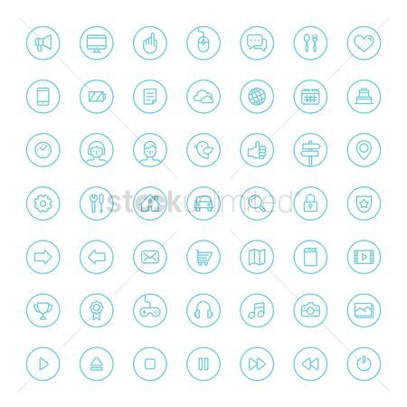 Vectors : Set of social media icons