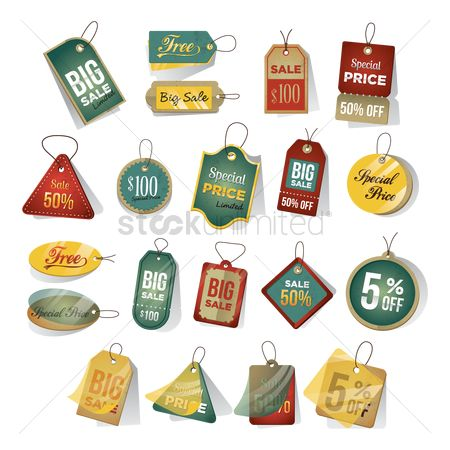 Vintage : Set of tags