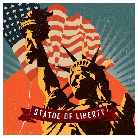 Ribbon : Statute of liberty