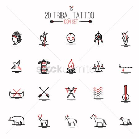 Birds : Tribal tattoo set