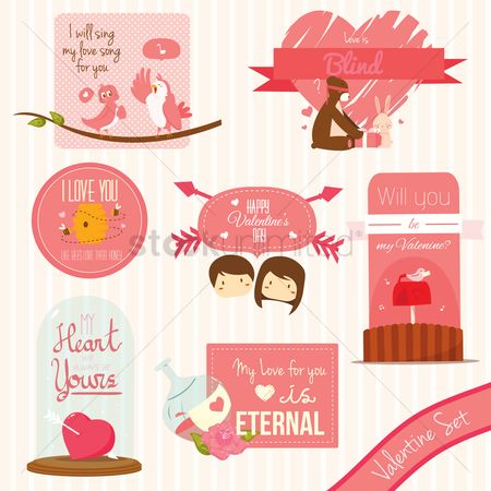 Birds : Valentine set