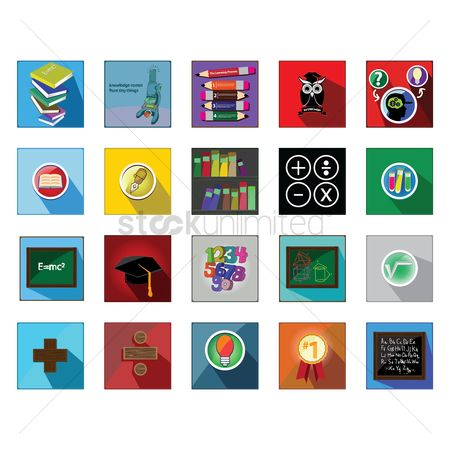 School : Various education icons
