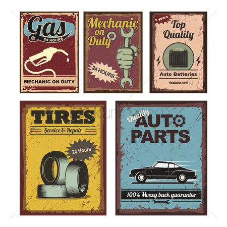 Background : Vintage car posters